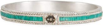 Armenta New World Midnight Scroll Mosaic Bracelet w/ Diamonds
