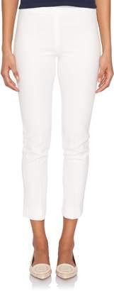 Loro Piana Mirel Spring White Cotton Side-Zip Pant