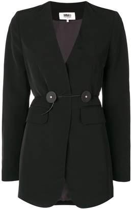 MM6 MAISON MARGIELA waist-tied blazer