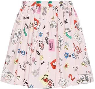 Dolce & Gabbana Illustrated Cotton Skirt