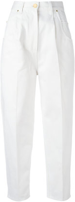Hillier Bartley pleat detail cropped trousers