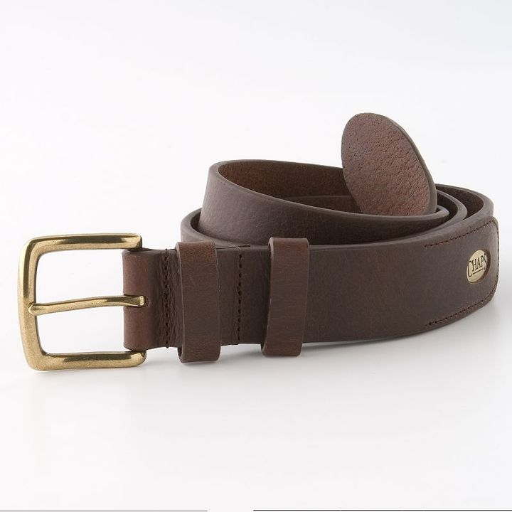 Chaps leather belt - brown