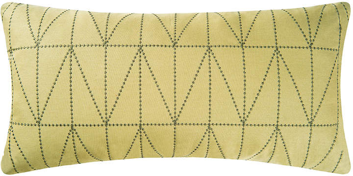 Green Geometric Geometric Throw Pillow