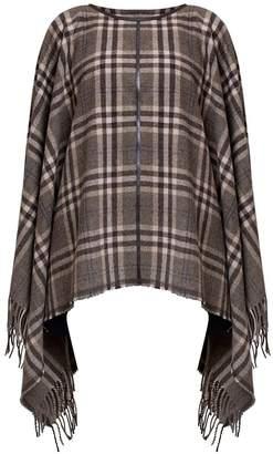 Rumour London - AVA Check Wool-Blend Cape