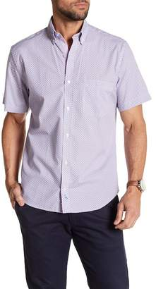 Tailorbyrd Circle Print Short Sleeve Button Shirt