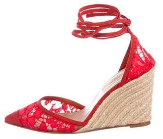 Valentino Lace Espadrille Wedges