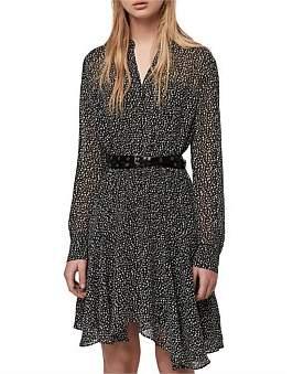 AllSaints Martina Splash Dress