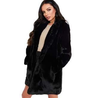 8e04605bf6e00 Limsea Women Blouse 2018 Limsea Autumn Winter Lady Womens Long Faux Fur  Coat Jacket Warm Outerwear
