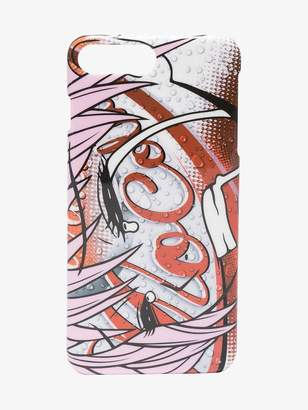 Moschino Mo Cola print iPhone 8+ case