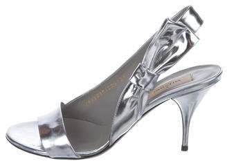 Valentino Metallic Leather Sandals