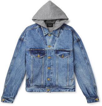 Fear of God Jersey-Lined Selvedge Denim Hooded Jacket $1,195 thestylecure.com