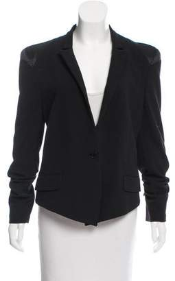 By Malene Birger Satin-Trimmed Structured Blazer