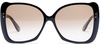 Gucci Butterfly Acetate Sunglasses - Womens - Black