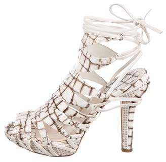 Christian Dior Leather Embossed Sandals