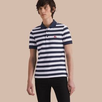 Burberry Striped Cotton Polo Shirt $195 thestylecure.com