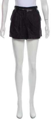 Alexander Wang Linen High-Rise Shorts