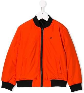 Calvin Klein Kids reversible bomber jacket