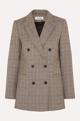 Cefinn - Pow Prince Of Wales Checked Woven Blazer - Brown