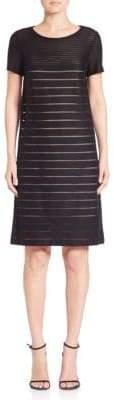 Lafayette 148 New York Mixed Stripe Shift Dress