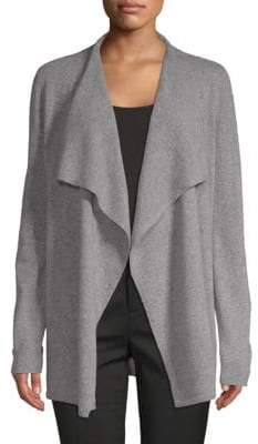 Saks Fifth Avenue Waterfall Cashmere Cardigan