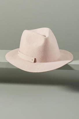 Anthropologie Olive Packable Felt Fedora