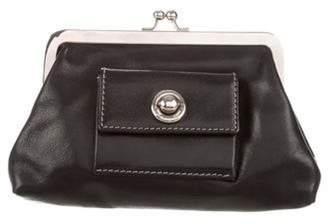 Marc Jacobs Leather Coin Purse Black Leather Coin Purse