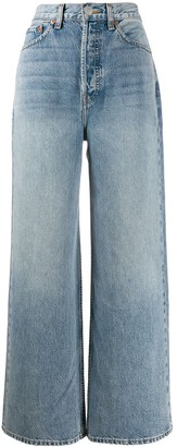 RE/DONE wide-leg flared jeans