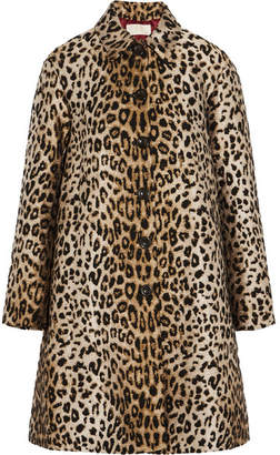 Leopard-jacquard Coat - Leopard print