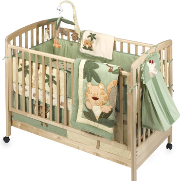 NoJo Jungle Babies 6-Piece Crib Bedding Set by NoJo, 100% Cotton, 200 Thread Count