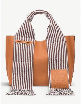 Loewe Scarf leather tote bag