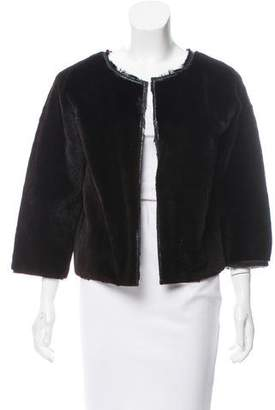 Narciso Rodriguez Sheared Mink Open Front Jacket