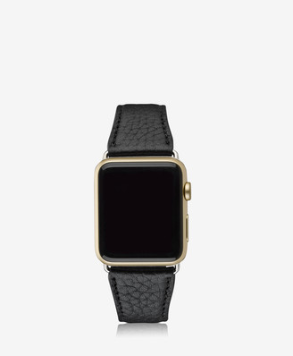 GiGi New York 42mm Apple Watch Band, Black Pebble Grain