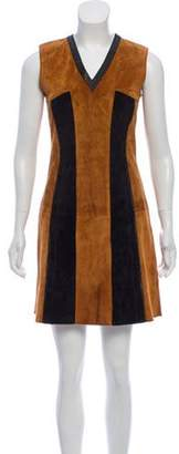 Derek Lam Suede Mini Dress black Suede Mini Dress