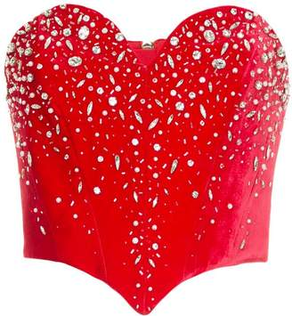 Ingie Paris embellished sweetheart corset
