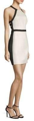 BCBGMAXAZRIA Halter Open-Back Sheath Dress