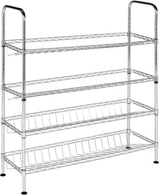 Safavieh Lidia Chrome Wire Adjustable Shoe Rack (29.5 In. W X 9.8 In. D X 33.5 In. H)