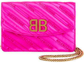 Balenciaga BB Quilted Wallet On Chain
