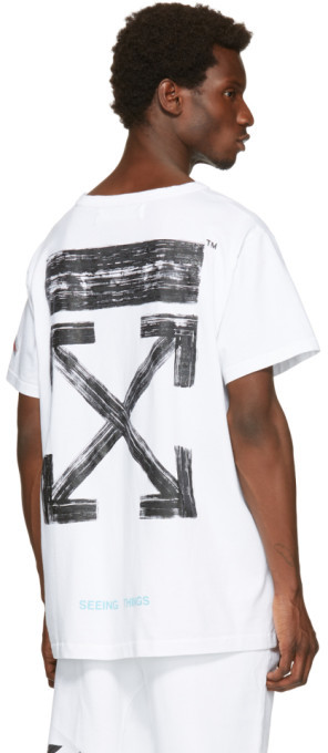 Off-White White Brushed T-Shirt 4
