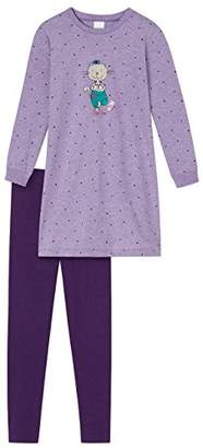 Schiesser Girl's Cat Zoe Nachthemd 1/1 mit Leggings Pyjama Sets,18-24 Months