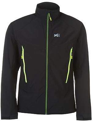 Millet Mens Shield Jacket Softshell Coat Top Long Sleeve Funnel Neck Zip Full