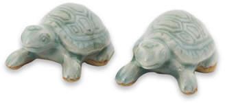 Novica Resilient Ceramic Turtle Figurine