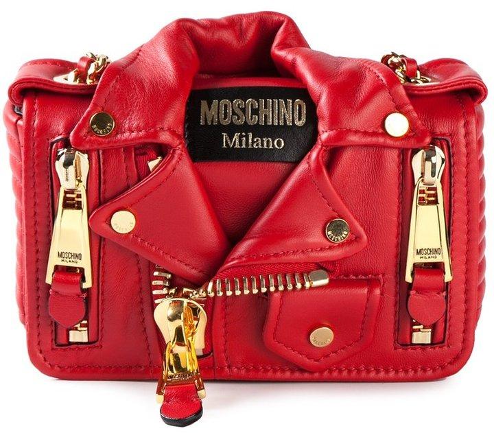 MoschinoMoschino small biker shoulder bag