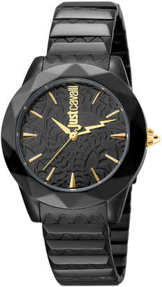 Just Cavalli 35mm Rock Sangallo Bracelet Watch, Black
