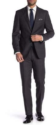Tallia Plaid Notch Collar Wool Suit