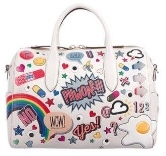 Anya Hindmarch All Over Wink Stickers Satchel