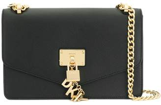 DKNY padlock flap shoulder bag