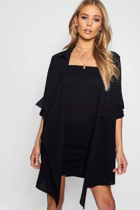 boohoo Chiffon Waterfall Duster