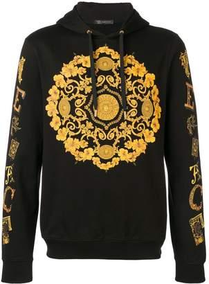 Versace Baroque logo hoodie