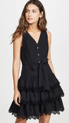 Rebecca Taylor Sleeveless Shell Embroidered Dress