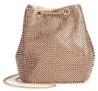 Nordstrom Crystal Mesh Crossbody Bucket Bag